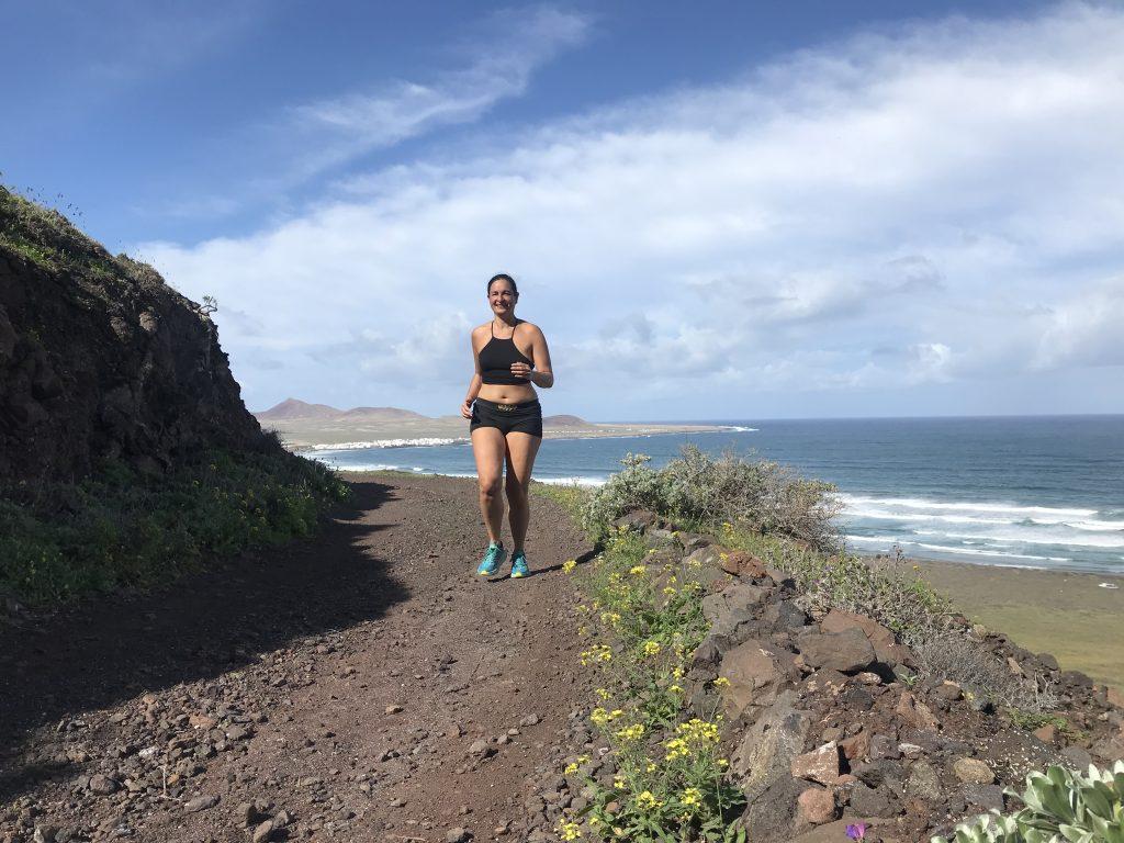 running on Lanzarote